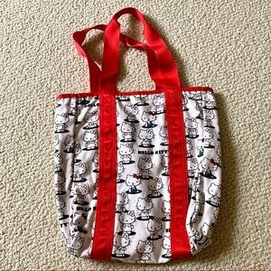 Hello Kitty reversible logo tote